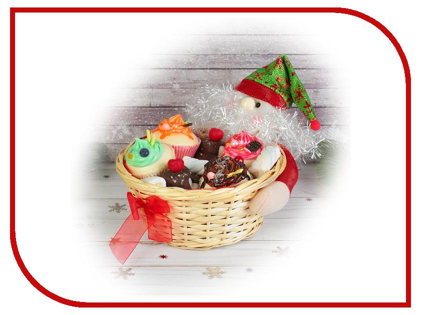 Новогодний сувенир СИМА-ЛЕНД Конфетница Дедушка Мороз снежинки на колпаке 2172696