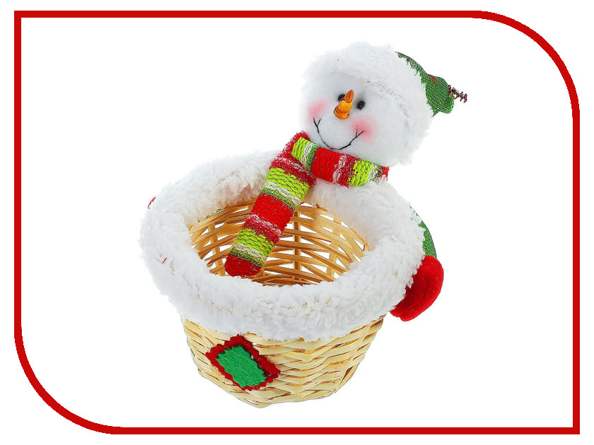 Новогодний сувенир СИМА-ЛЕНД Конфетница Снеговик с шарфом 1308731