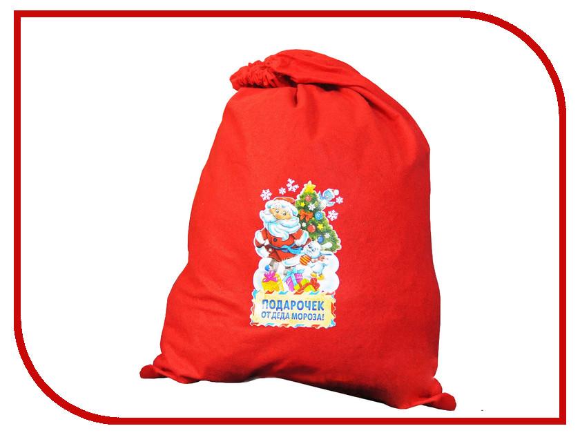Страна Карнавалия Мешок Деда Мороза Подарочек 2226421 упаковка подарочная страна карнавалия карнавал мешок снеговик цвет красный 50 х 70 см