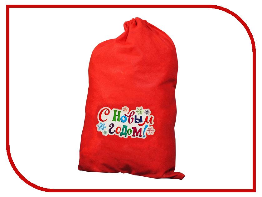 Страна Карнавалия Мешок Деда Мороза С Новым годом! Снежинки 1365013 упаковка подарочная страна карнавалия карнавал мешок снеговик цвет красный 50 х 70 см