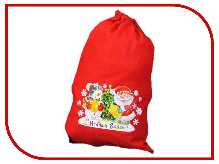 Страна Карнавалия Мешок Деда Мороза С Новым Годом 2226416 упаковка подарочная страна карнавалия карнавал мешок снеговик цвет красный 50 х 70 см