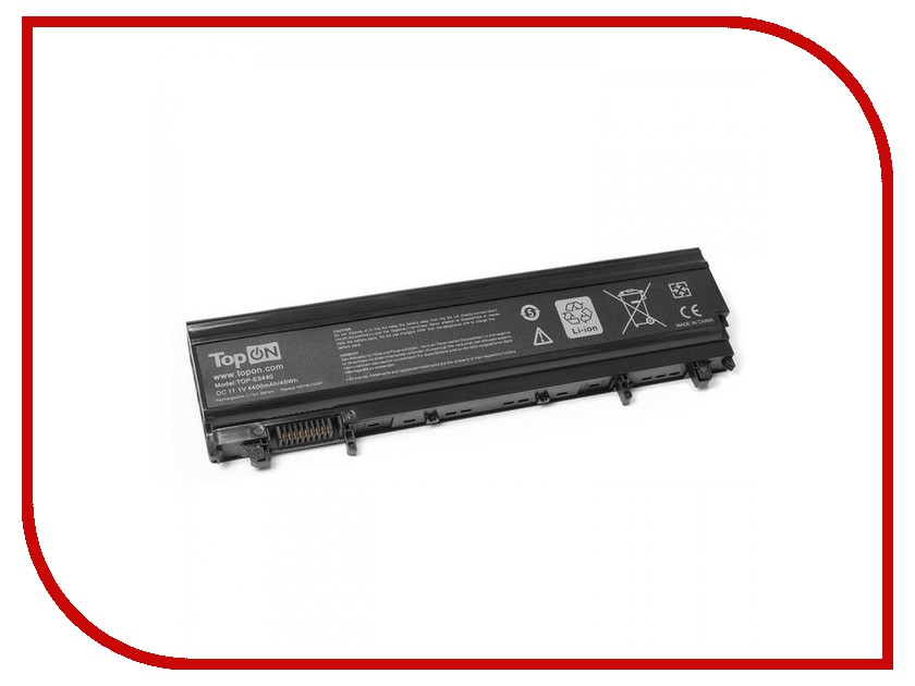 Аккумулятор TopON TOP-E5440 11.1V 4400mAh для Dell Latitude E5540/E5440 Series аккумулятор topon top k53 для 10 8v 4400mah pn a32 k53 a42 k53 a43ei241sv sl