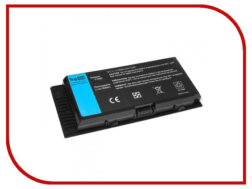 Аккумулятор TopON TOP-M6700 11.1V 6600mAh для Dell Precision M6700/M4700/M6600/M4600 Series аккумулятор topon top s10h 11 1v 7200mah