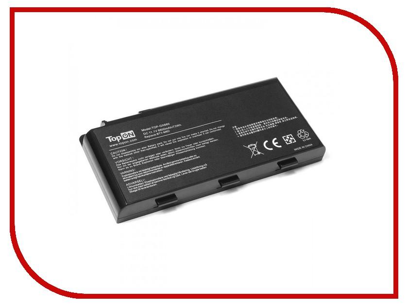 Аккумулятор TopON TOP-GX660 11.1V 6600mAh для MSI Erazer X6811/GX680/GX780/GT660/GT780 Series аккумулятор topon top s10h 11 1v 7200mah