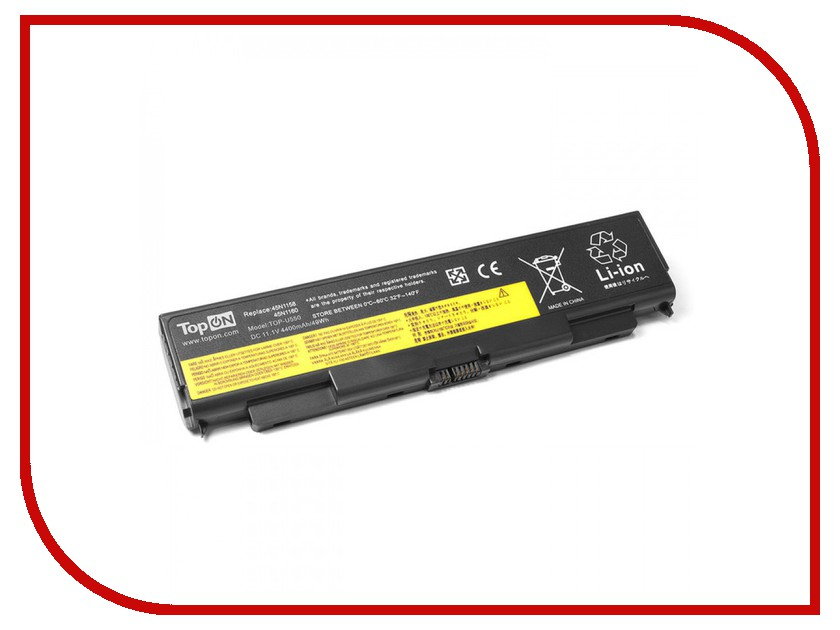 Аккумулятор TopON TOP-U550 11.1V 4400mAh для Lenovo IdeaPad U550 Series аккумулятор topon top k53 для 10 8v 4400mah pn a32 k53 a42 k53 a43ei241sv sl