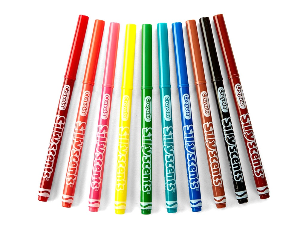 Фломастеры ароматизированные Crayola 10 цветов 58-5071 фломастеры crayola 12 цветов 58 8329