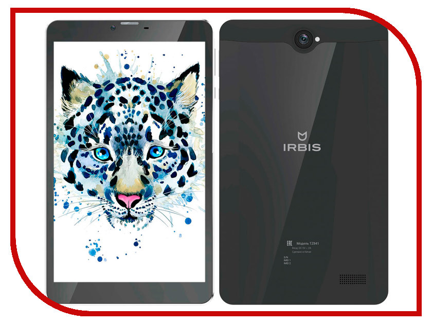 Планшет Irbis TZ841 Black (SC7731 1.3 GHz/1024Mb/16Gb/GPS/3G/Wi-Fi/Bluetooth/Cam/8/1280x800/Android) цена