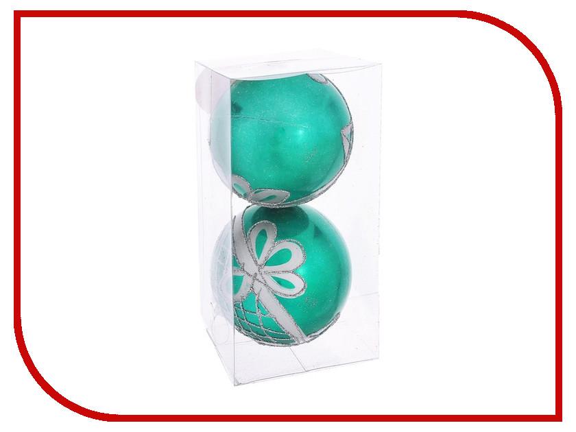 Украшение СИМА-ЛЕНД Набор шаров Изумрудный мираж с цветочным узором 2шт 1009477 кулон изумрудный