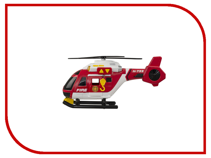 Игрушка Roadsterz Пожарный вертолет 1416392 машинки hti паровозик roadsterz синий с вагоном звуковыми и световыми эффектами