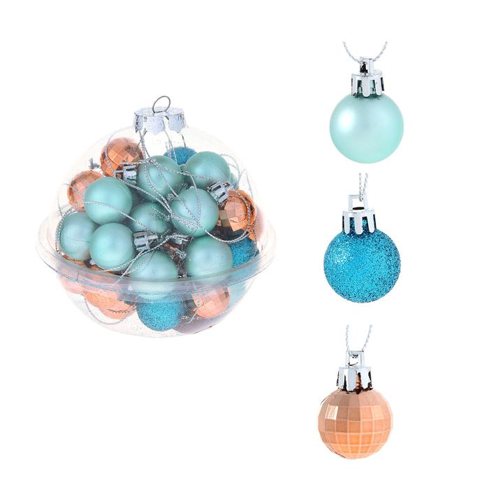 Украшение СИМА-ЛЕНД Набор шаров Малыши 40шт Orange / Turquoise 1023305
