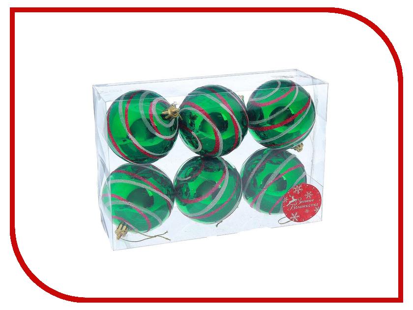 Украшение СИМА-ЛЕНД Набор шаров Орион 6шт Emerald 2178192 набор шаров 80мм 6шт стекло зеленый