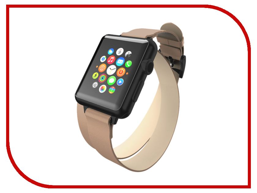 Аксессуар Ремешок Incipio APPLE Watch 42mm Reese Double Wrap Watch Band Dark Grey WBND-013-TAUPE