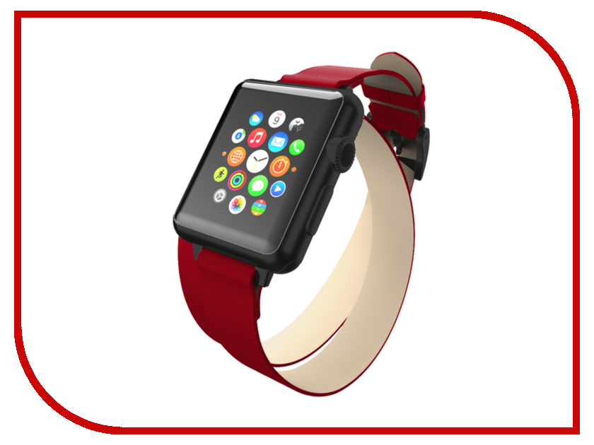 Аксессуар Ремешок Incipio APPLE Watch 42mm Reese Double Wrap Watch Band Red WBND-013-RED умные часы apple watch series 3 38mm grey space with black sport band mqkv2ru a