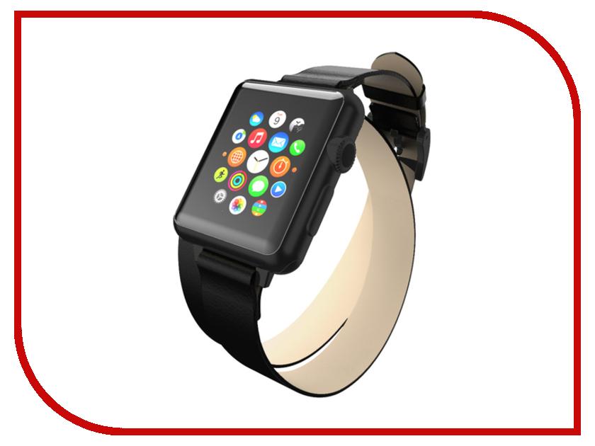 Аксессуар Ремешок Incipio APPLE Watch 42mm Reese Double Wrap Watch Band Black WBND-013-BLK