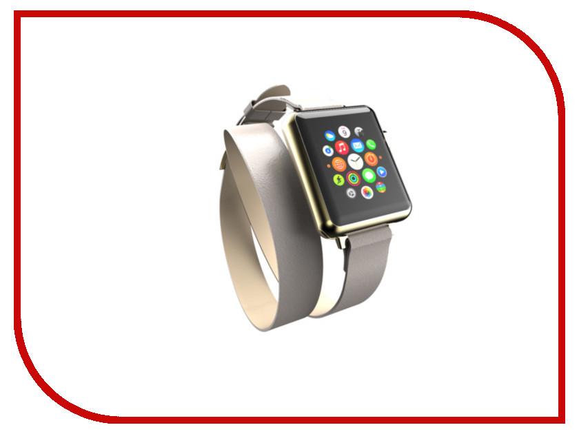 Аксессуар Ремешок Incipio APPLE Watch 38mm Reese Double Wrap Watch Band Dark Grey WBND-003-TAUPE умные часы apple watch series 2 38mm gold with grey stone sport band mnp22ru a