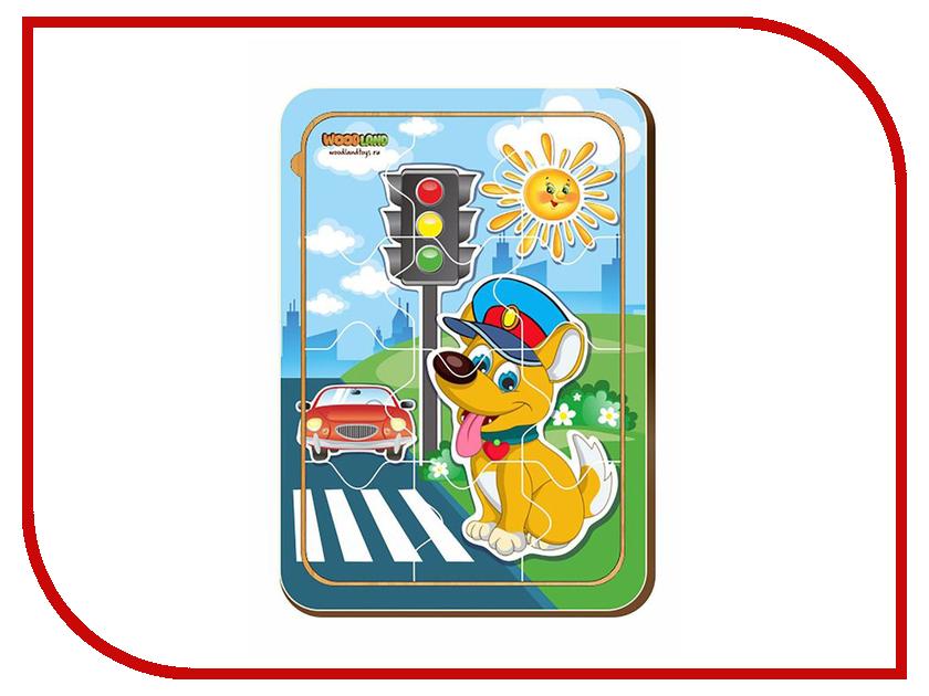 Пазл WoodLand Toys Собачка и светофор 2421731