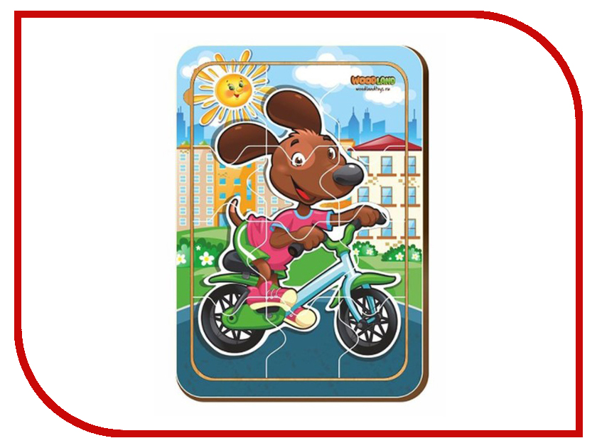 Пазл WoodLand Toys Собачка на транспорте 2421734