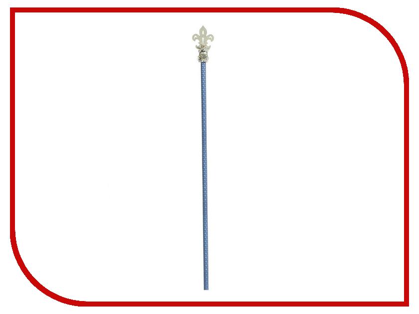Новогодний сувенир СИМА-ЛЕНД Посох Деда Мороза Королевский Blue-Silver 1597787