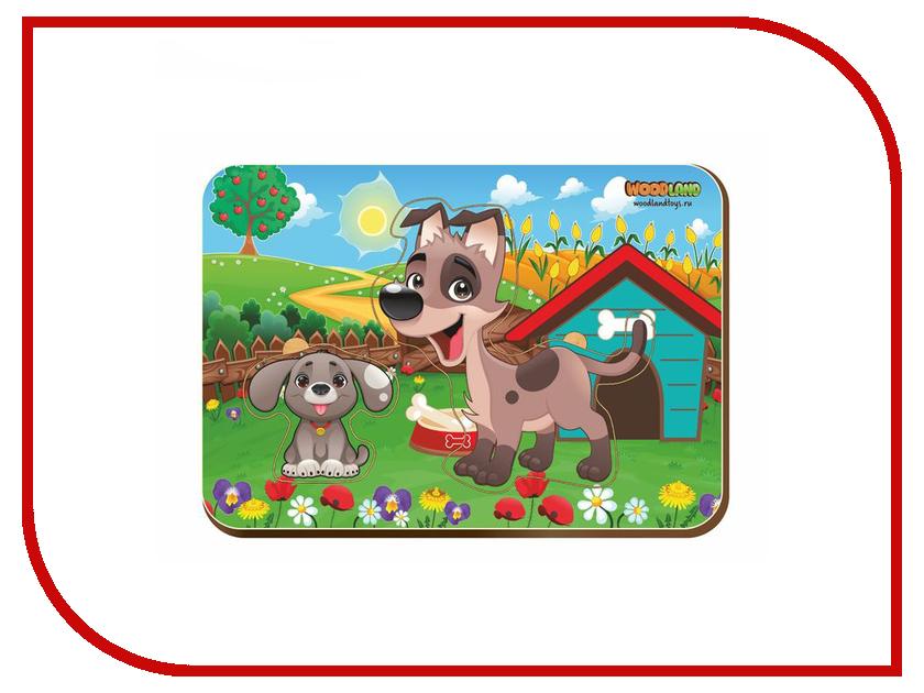 Пазл WoodLand Toys Собака и щенок 2 2421676