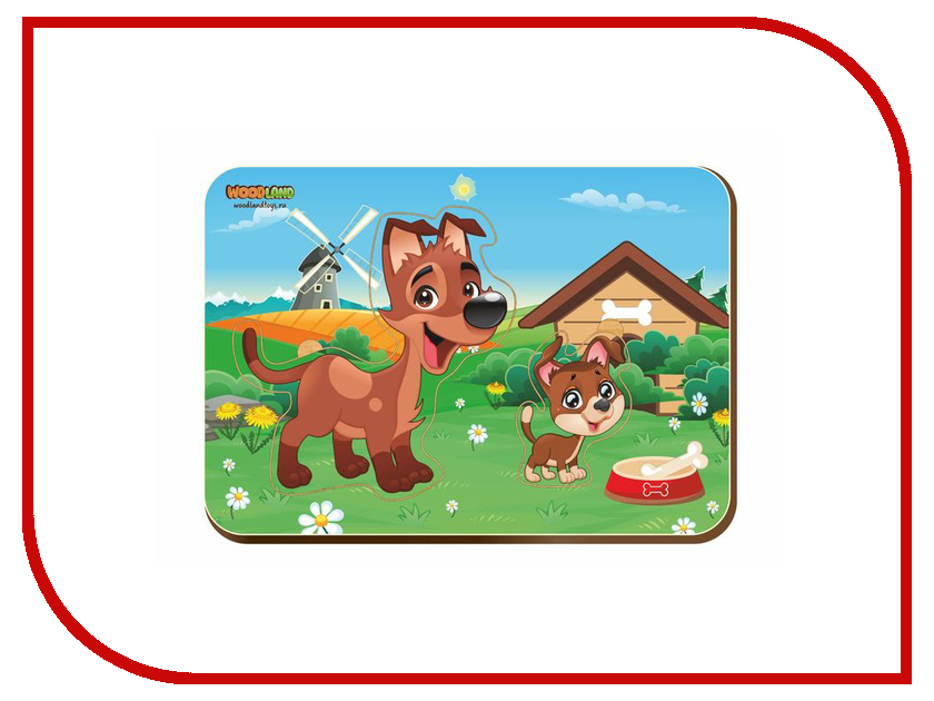 Пазл WoodLand Toys Собака и щенок 2421674