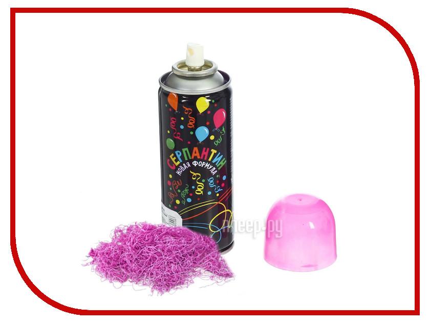 Новогодний сувенир СИМА-ЛЕНД Спрей Серпантин Pink 1056380 бутылка сима ленд свежесть 750ml pink 1684771