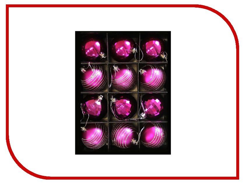 Украшение СИМА-ЛЕНД Набор шаров Элит 12шт Crimson 2123002 подушка сима ленд великолепный хамелеон 35x35cm grey crimson 2498143