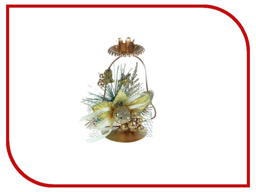 Новогодний сувенир СИМА-ЛЕНД Подсвечник на одну свечу Колокольчик 2356897