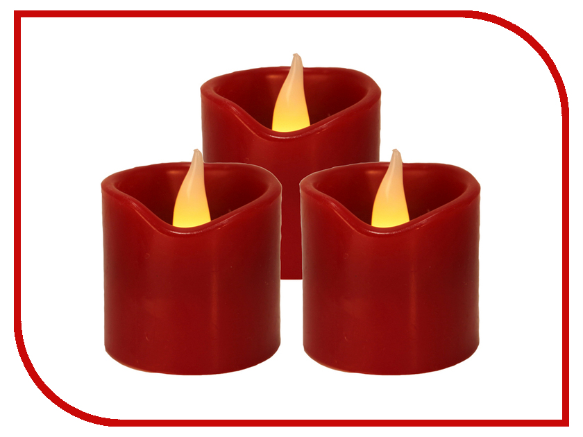 Светодиодная свеча Star Trading LED 3шт Red 067-37
