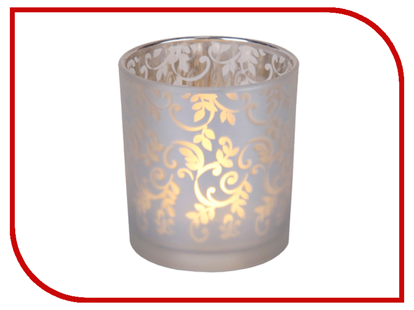 Светодиодная свеча Star Trading LED Silver Узор 068-00