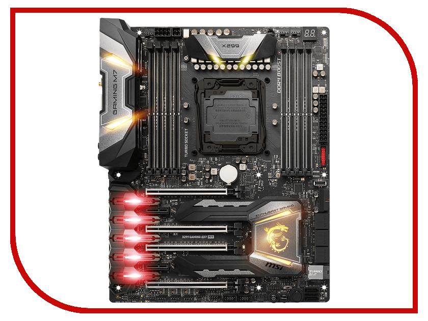 Материнская плата MSI X299 GAMING M7 ACK материнская плата msi z270 gaming pro carbon