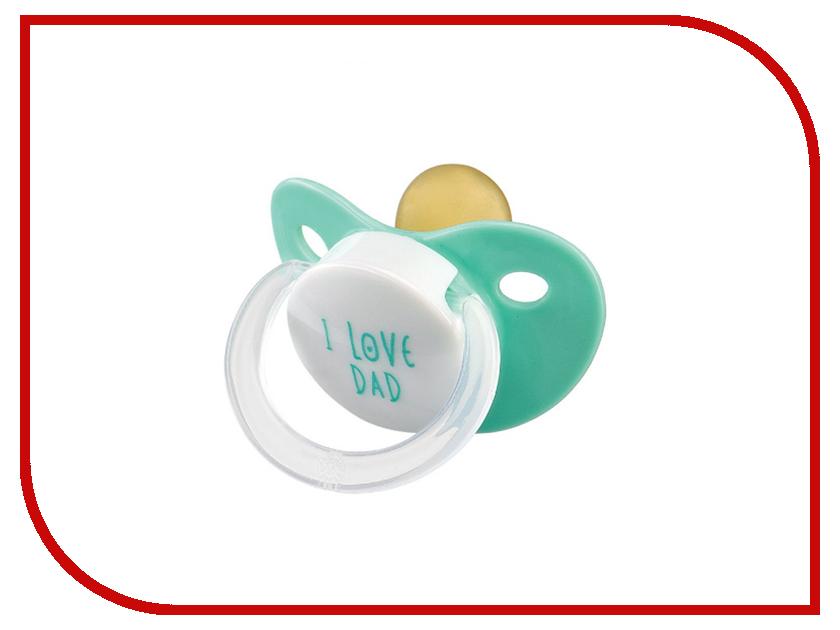 Соска пустышка латексная Happy Baby 13016 Mint happy baby happy baby развивающая игрушка руль rudder со светом и звуком