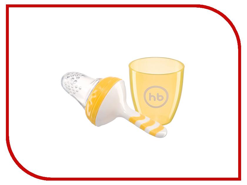 Ниблер с силиконовой сеточкой Happy Baby 15047 Yellow ложка happy baby baby spoon х2 с 6 мес 2 шт в ассортименте