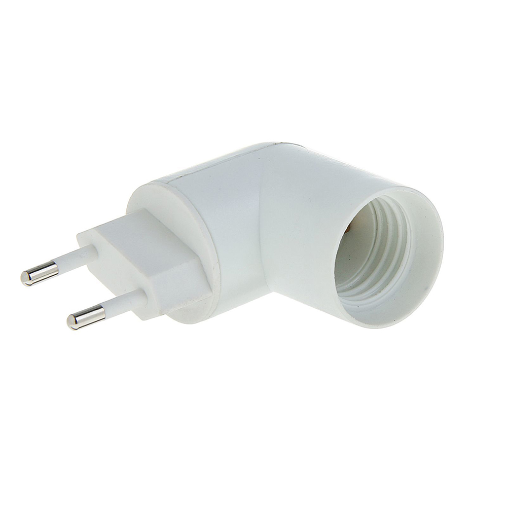Переходник TDM-Electric вилка-Е27 с выключателем White SQ0335-1007