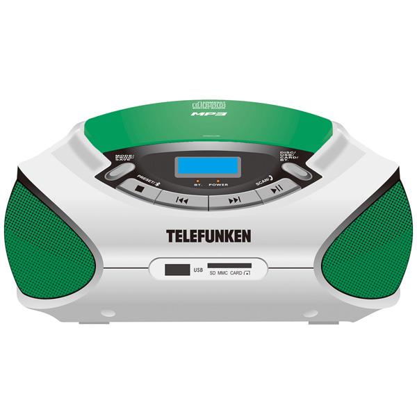 Магнитола TELEFUNKEN TF-CSRP3492B Green-White цена и фото