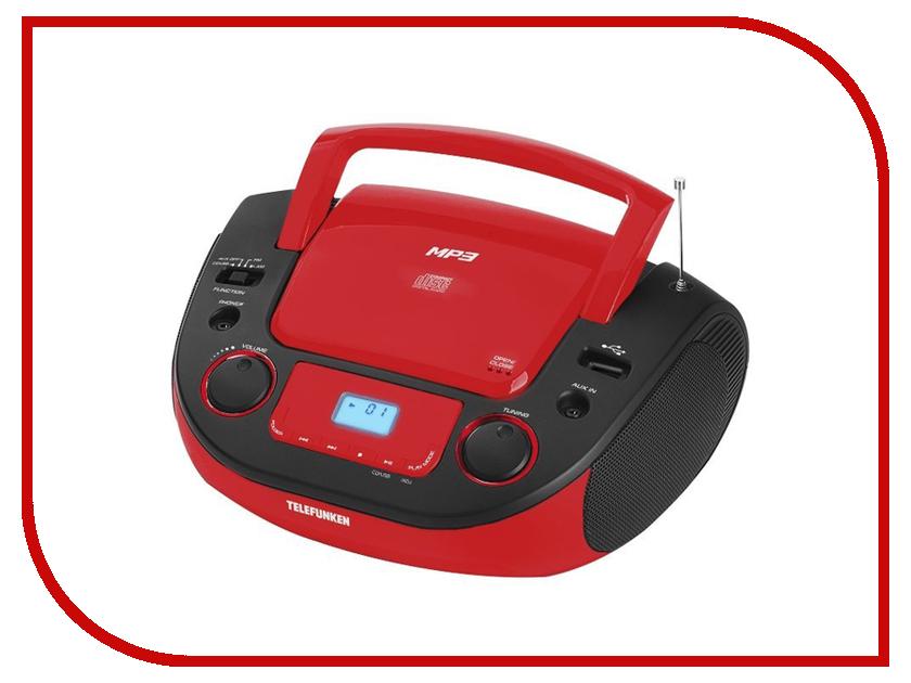 Радиоприемник Telefunken TF-CSRP3481 Black-Red цена и фото