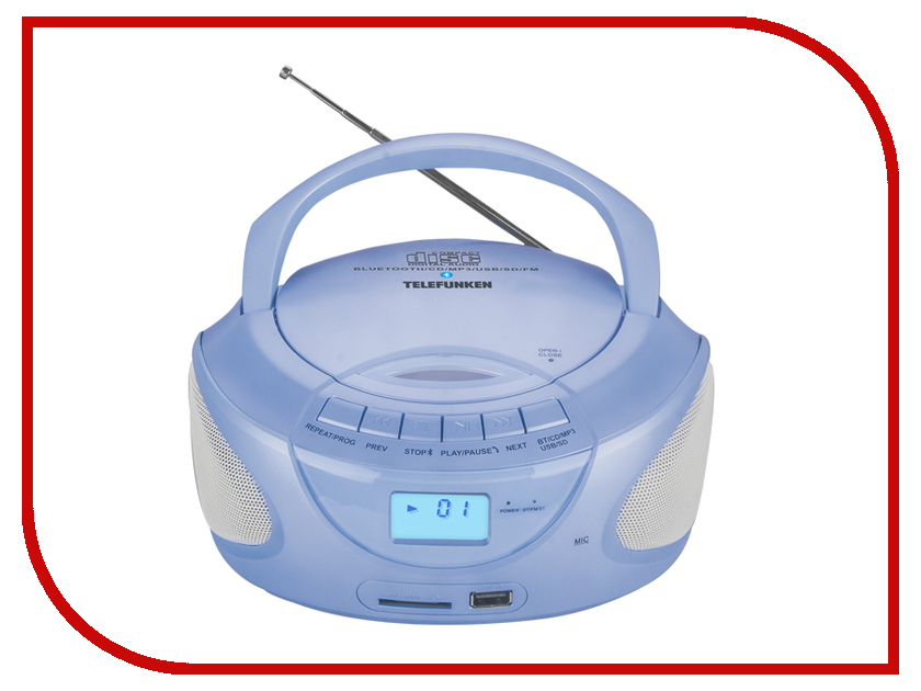 Радиоприемник Telefunken TF-CSRP3490B Blue