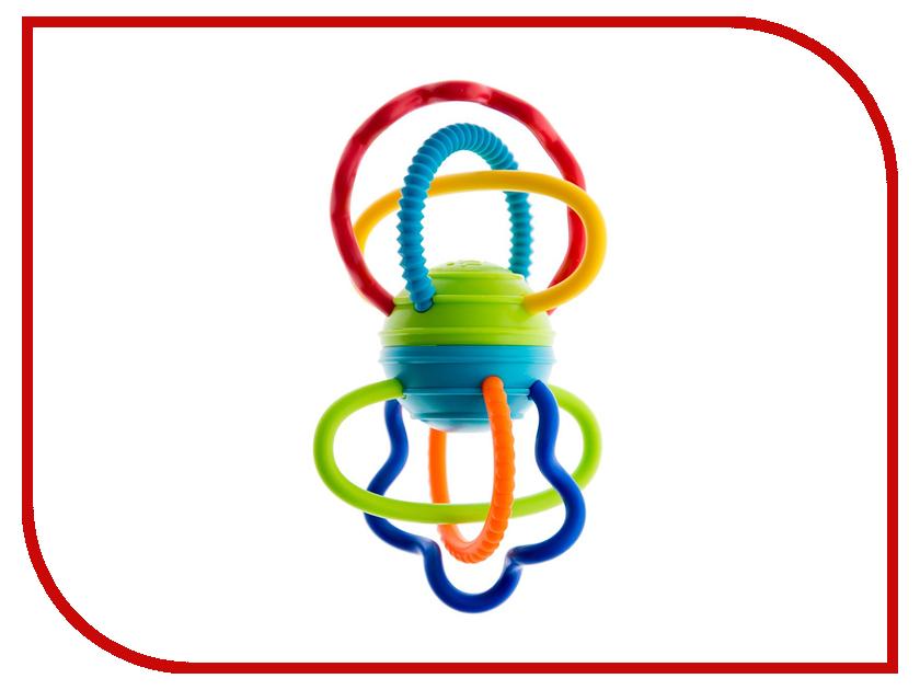 Погремушка Oball Разноцветная гантелька 81508 oball игрушечный трек