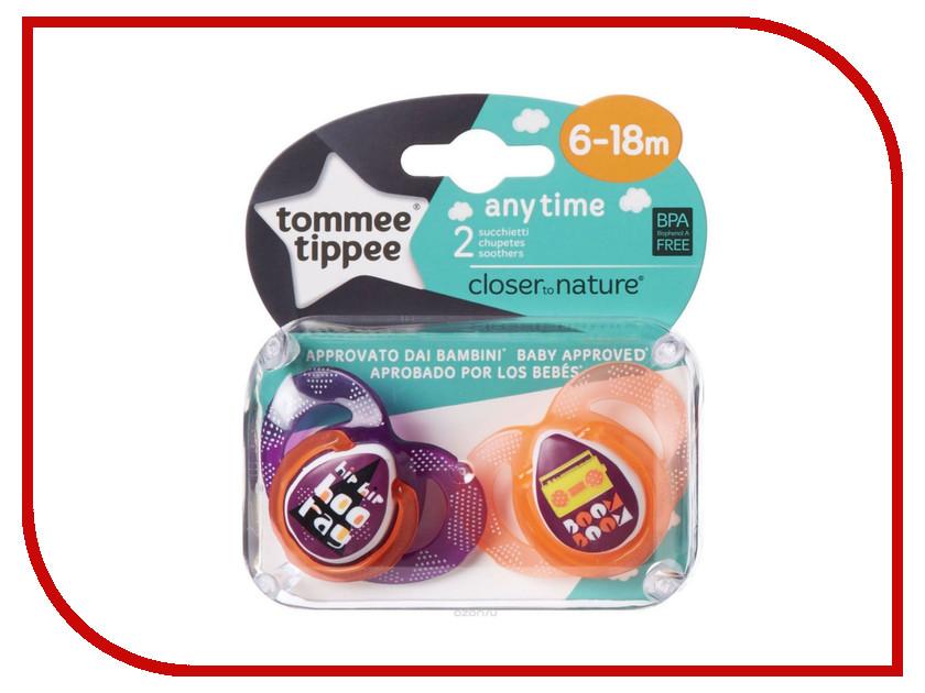 Пустышки силиконовые Tommee Tippee AnyTime 6-18 мес. (2шт) Orange 43336455-3 lumy блокнот anytime we go away