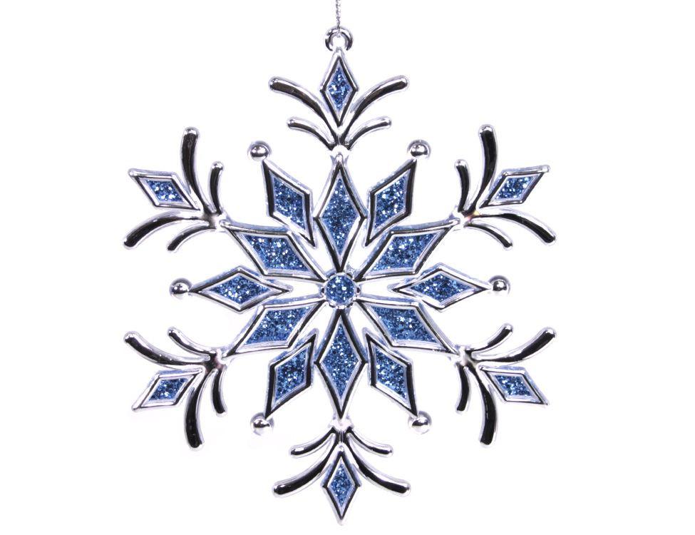 Украшение Crystal Deco Снежинка Зимний оттенок Blue 161972
