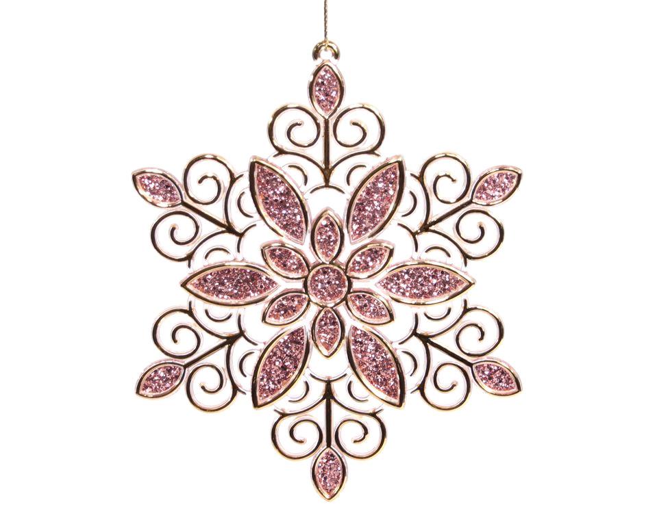 Украшение Crystal Deco Снежинка Зимний оттенок Gold 161985