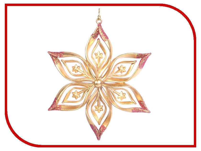 Украшение Crystal Deco Снежинка Золотая звездочка 161794 новогоднее украшение crystal deco подвеска со стразами в ассортименте