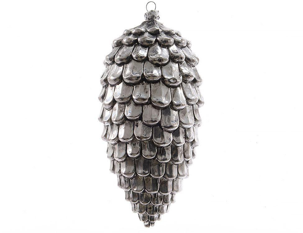 Украшение Kaemingk Серебряная шишка 515729 украшение kaemingk набор шаров новогодняя коллекция 34шт silver 023151