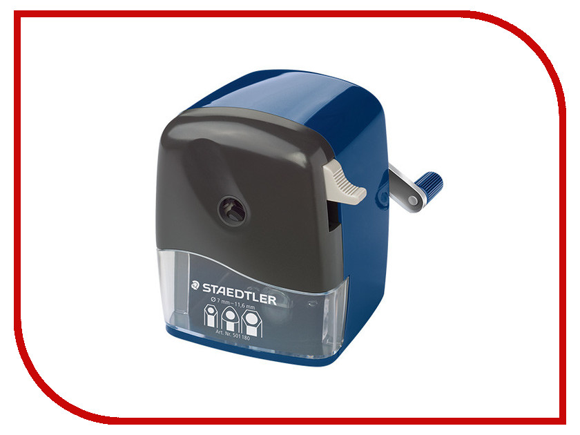 Канцелярский набор Точилка механическая Staedtler Mars 501 180 / 226429 staedtler точилка бочонок 2 гнезда цвет голубой