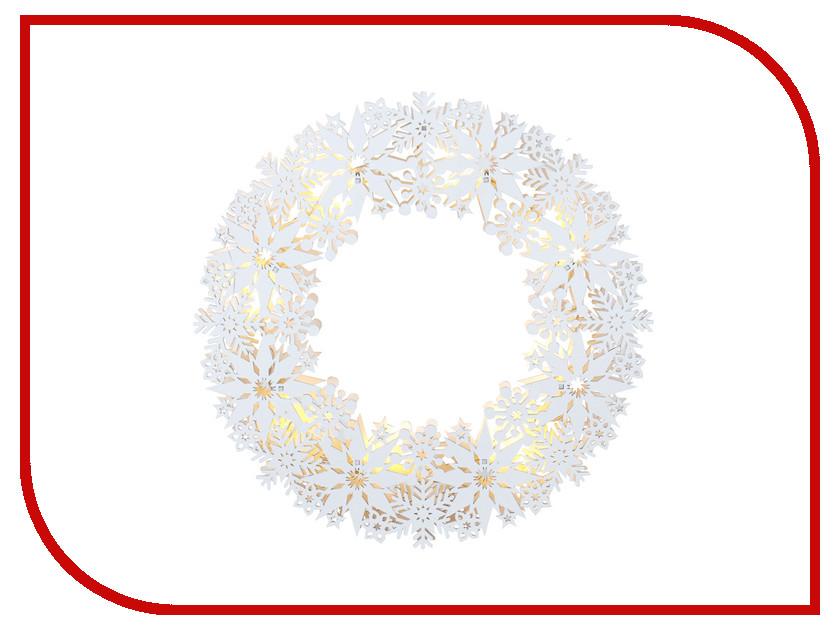 Светящееся украшение Star Trading Snowflake Wreath White 270-63 household christmas wreath pillow case
