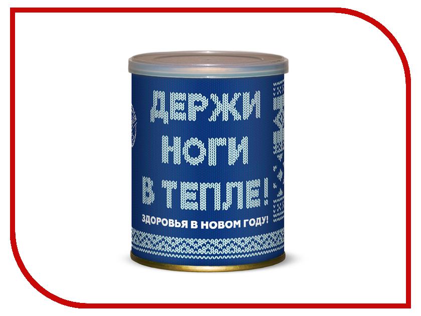 Гаджет Носки держи ноги в тепле (новогодняя серия) Canned Socks White-Blue 416055