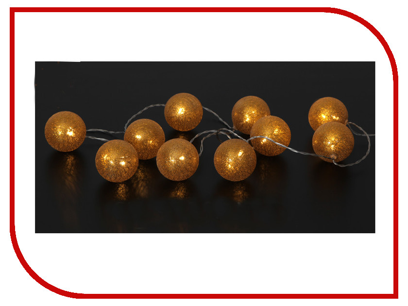 Гирлянда Star Trading AB Jolly Glitter Light 10 LED 1.35m Gold 457-25