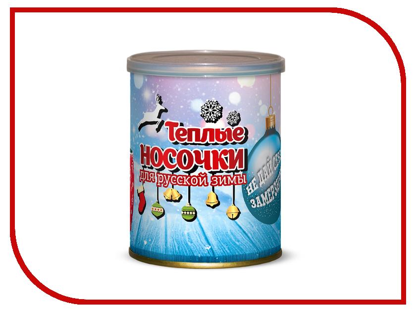 Носочки теплые для русской зимы Не дай себе замерзнуть Canned Socks White-Red 416079