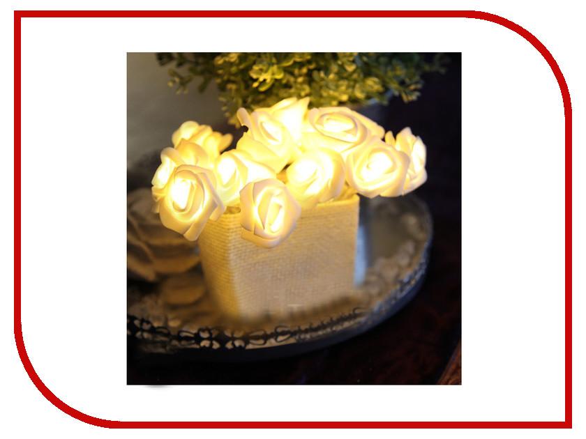 Гирлянда Star Trading AB Розы в корзинке 15 LED 2.6m White 726-29