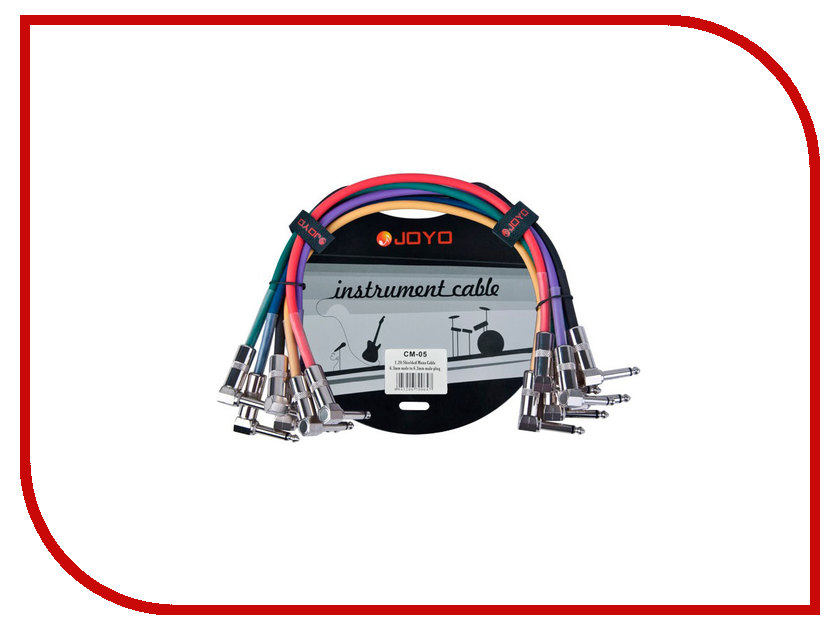 Аксессуар JOYO CM-05 Patch Cables Набор new arrival vintage phase phaser guitar effect pedal true bypass musical instrument joyo jf 06