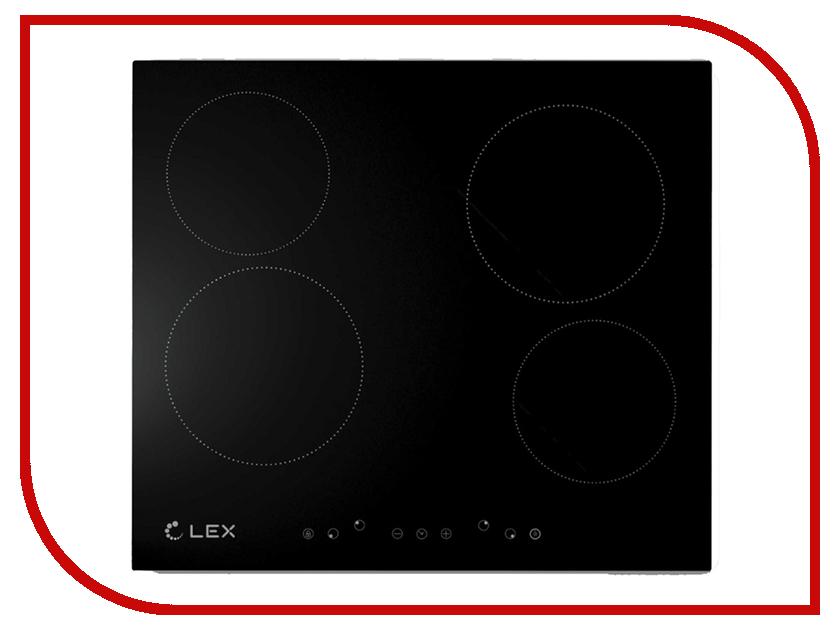 Варочная панель LEX EVH 640 BL Black электрическая плита lex evh 431 bl